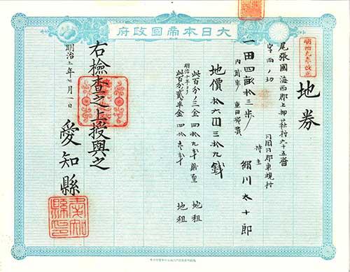 日本史|地租改正